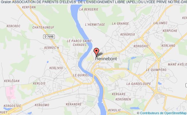 plan association Association De Parents D'eleves  De L'enseignement Libre (apel) Du Lycee Prive Notre-dame Du Voeu Hennebont