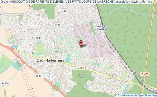 """plan association Association De Parents D'ÉlÈves """"les P'tits Loups De La BrÊche"""" Ozoir-la-Ferrière"""