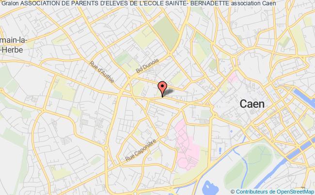 plan association Association De Parents D'eleves De L'ecole Sainte- Bernadette Caen
