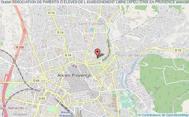 plan association Association De Parents D Eleves De L Enseignement Libre (apel) D'aix En Provence