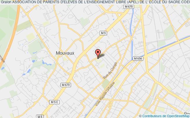 plan association Association De Parents D'eleves De L'enseignement Libre (apel) De L' Ecole Du Sacre Coeur  Saint Paul(mouvaux)
