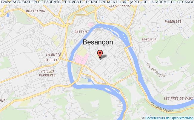 plan association Association De Parents D'eleves De L'enseignement Libre (apel) De L'academie De Besancon