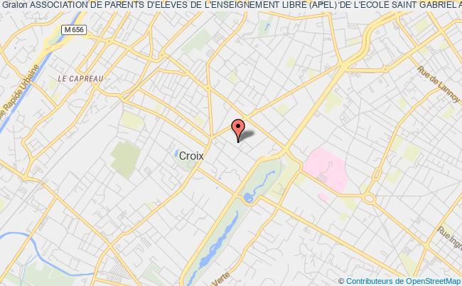 plan association Association De Parents D'eleves De L'enseignement Libre (apel) De L'ecole Saint Gabriel A Croix Croix