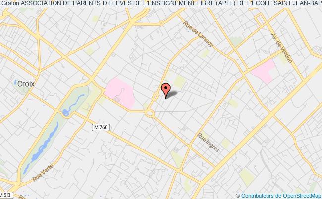 plan association Association De Parents D Eleves De L'enseignement Libre (apel) De L'ecole Saint Jean-baptiste Roubaix