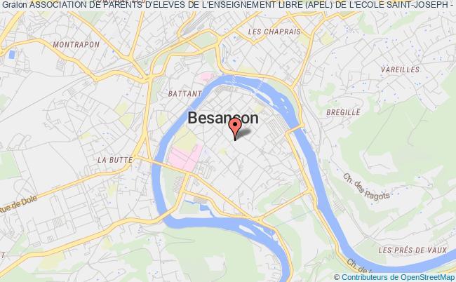 plan association Association De Parents D'eleves De L'enseignement Libre (apel) De L'ecole Saint-joseph - Sainte-ursule