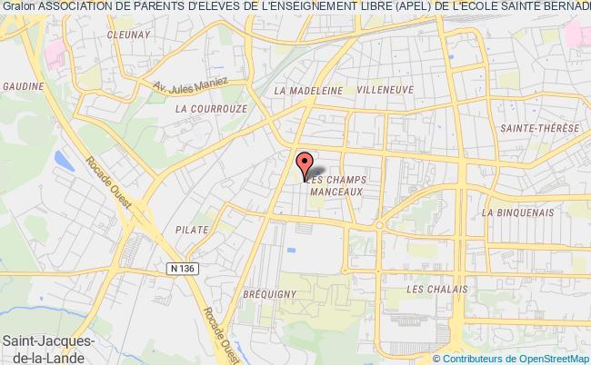 plan association Association De Parents D'eleves De L'enseignement Libre (apel) De L'ecole Sainte Bernadette