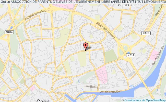 plan association Association De Parents D'eleves De L'enseignement Libre (apel) De L'institut Lemonnier Caen
