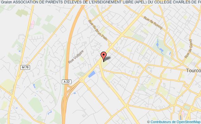 plan association Association De Parents D'eleves De L'enseignement Libre (apel) Du College Charles De Foucauld