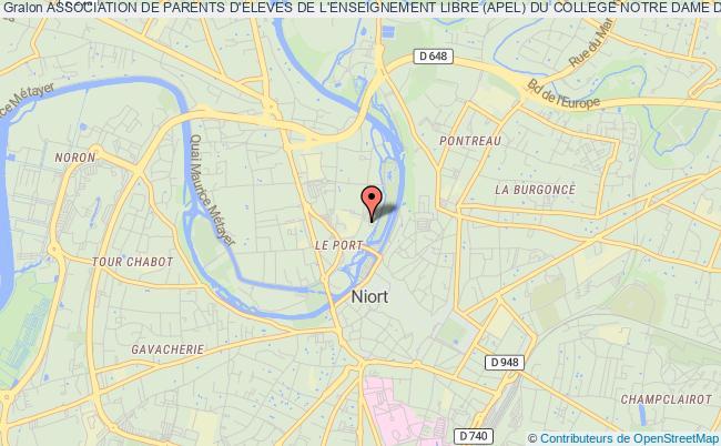 plan association Association De Parents D'eleves De L'enseignement Libre (apel) Du College Notre Dame De Niort