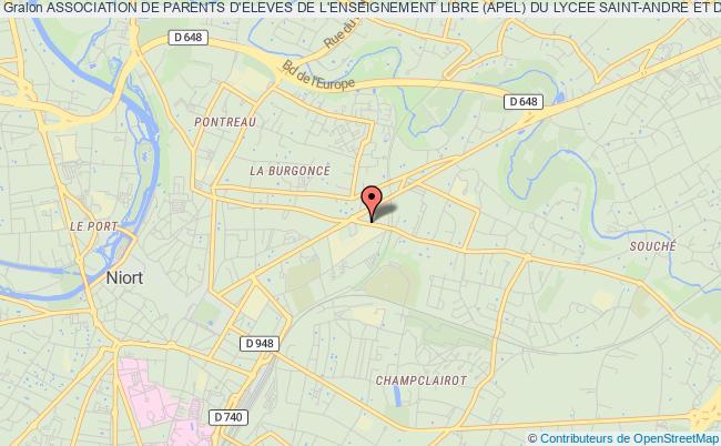 """plan association Association De Parents D'eleves De L'enseignement Libre (apel) Du Lycee Saint-andre Et De L'institut Superieur Saint-andre De Niort """"apel Saint-andre/icssa"""
