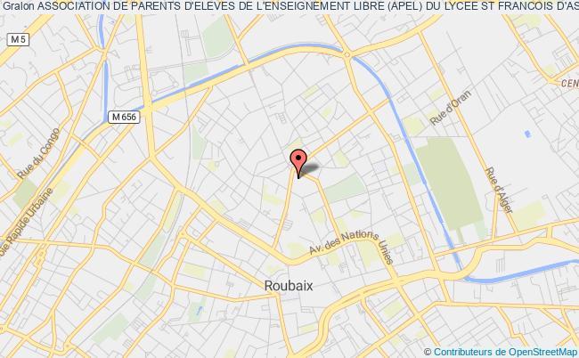 plan association Association De Parents D'eleves De L'enseignement Libre (apel) Du Lycee St Francois D'assise A Roubaix Roubaix Cédex