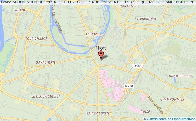 plan association Association De Parents D'eleves De L'enseignement Libre (apel)de Notre Dame St Joseph