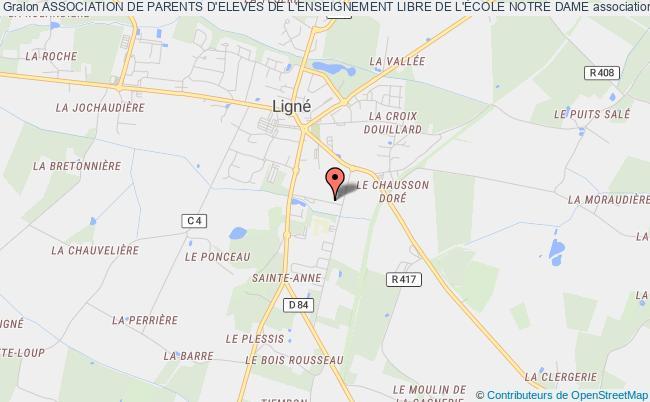 plan association Association De Parents D'eleves De L'enseignement Libre De L'École Notre Dame