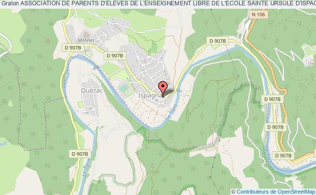 plan association Association De Parents D'ÉlÈves De L'enseignement Libre De L'École Sainte Ursule D'ispagnac