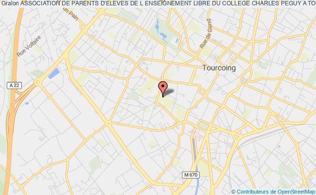 plan association Association De Parents D'eleves De L Enseignement Libre Du College Charles Peguy A Tourcoing