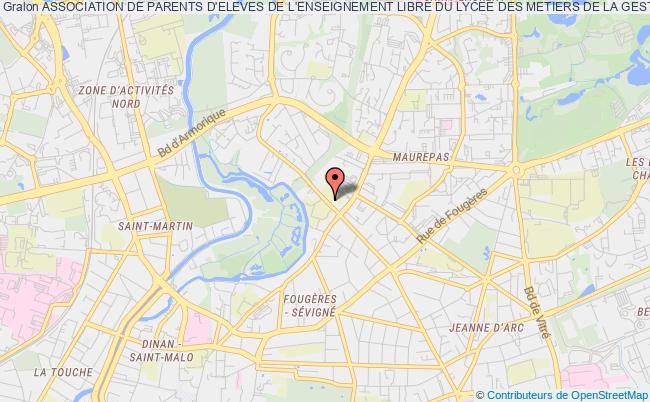plan association Association De Parents D'eleves De L'enseignement Libre Du Lycee Des Metiers De La Gestion Et Du Commerce De La Salle De Rennes
