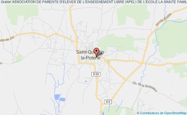plan association Association De Parents D'eleves De L'enseignement Libre Ecole La Sainte Famille Saint-Quentin-la-Poterie