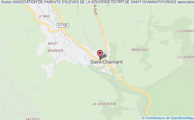 plan association Association De Parents D'ÉlÈves De La Souvigne Du Rpi De Saint-chamant/forgÈs