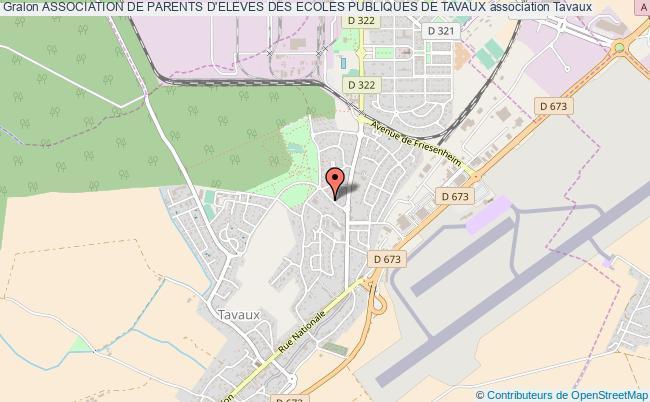plan association Association De Parents D'eleves Des Ecoles Publiques De Tavaux Tavaux