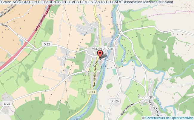 plan association Association De Parents D'eleves Des Enfants Du Salat Mazères-sur-Salat