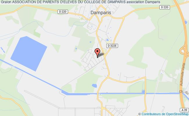 plan association Association De Parents D'eleves Du College De Damparis Damparis