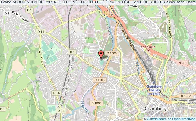 plan association Association De Parents D Eleves Du College Prive Notre-dame Du Rocher