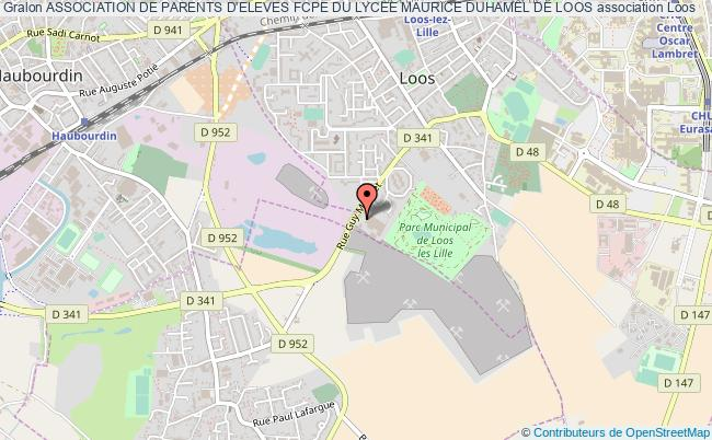 plan association Association De Parents D'eleves Fcpe Du Lycee Maurice Duhamel De Loos Loos Cédex