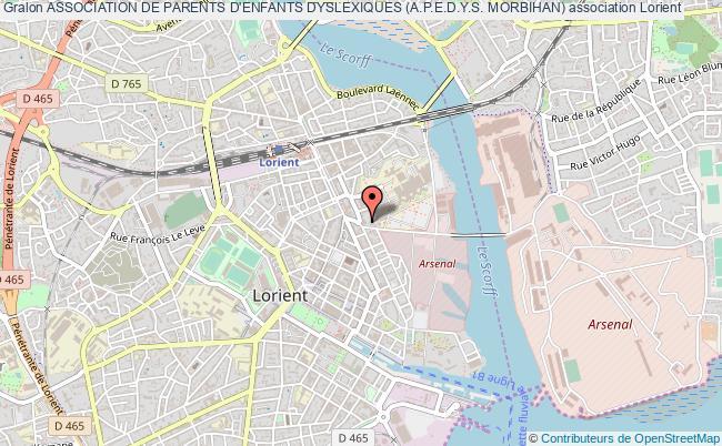 plan association Association De Parents D'enfants Dyslexiques (a.p.e.d.y.s. Morbihan)