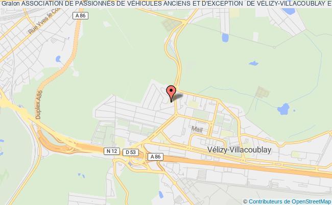 plan association Association De PassionnÉs De VÉhicules Anciens Et D'exception  De VÉlizy-villacoublay Et Ses Environs (les Mani-vel)