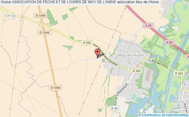 plan association Association De PÊche Et De Loisirs De Moy De L'aisne