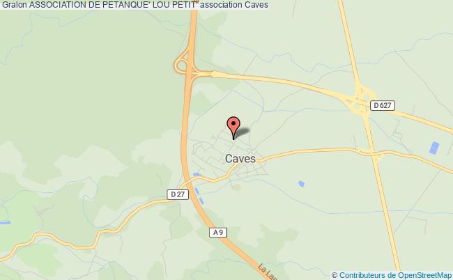 plan association Association De Petanque' Lou Petit'