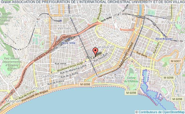 plan association Association De Prefiguration De L'international Orchestral University Et De Son Village-campus Nice