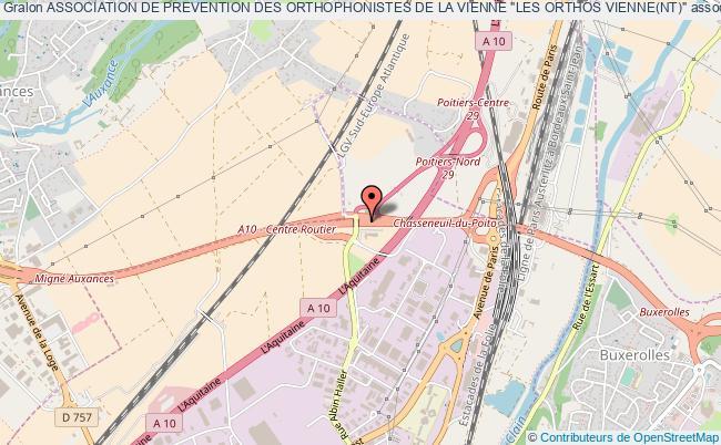 """plan association Association De Prevention Des Orthophonistes De La Vienne """"les Orthos Vienne(nt)"""""""