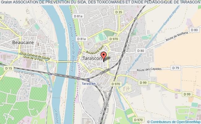 plan association Association De Prevention Du Sida, Des Toxicomanes Et D'aide Pedagogique De Tarascon Et Ses Environs - A.p.s.t.a.p.t.e.