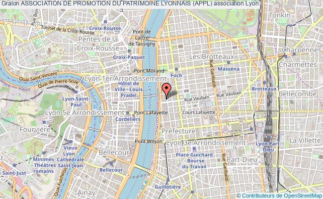 plan association Association De Promotion Du Patrimoine Lyonnais (appl)
