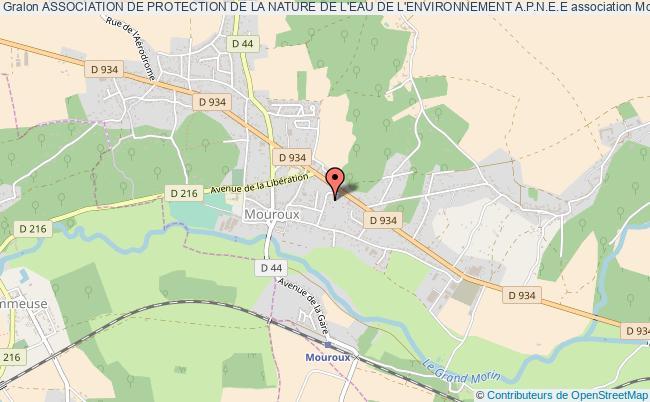 plan association Association De Protection De La Nature De L'eau De L'environnement A.p.n.e.e Mouroux