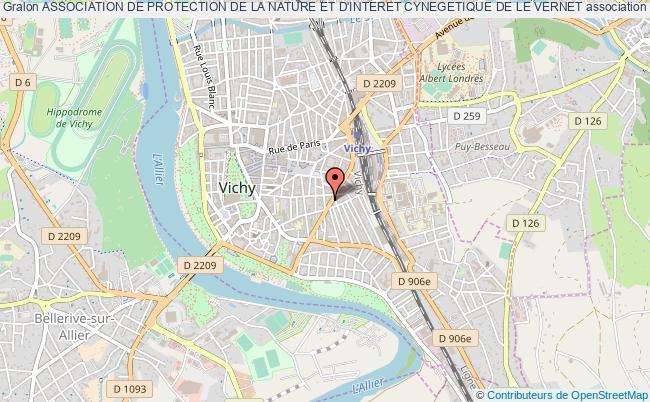 plan association Association De Protection De La Nature Et D'interet Cynegetique De Le Vernet