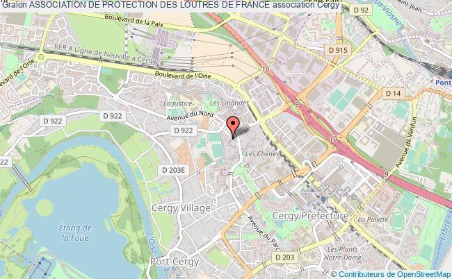 plan association Association De Protection Des Loutres De France Cergy
