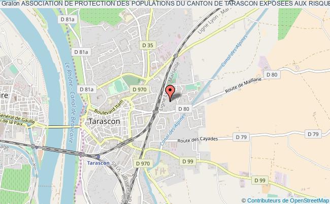 """plan association Association De Protection Des Populations Du Canton De Tarascon Exposees Aux Risques Majeurs """"a.d.p."""""""