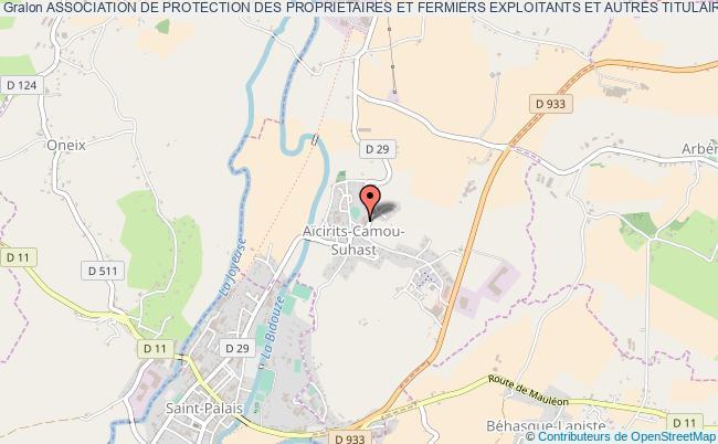 plan association Association De Protection Des Proprietaires Et Fermiers Exploitants Et Autres Titulaires De Droits Des Communes De Combronde Et Montcel Montcel