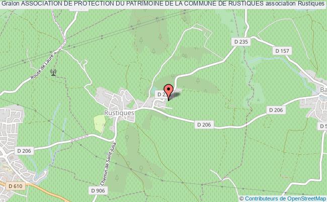 plan association Association De Protection Du Patrimoine De La Commune De Rustiques Rustiques