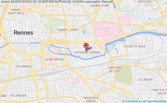plan association Association De Quartier Alphonse Guerin Rennes