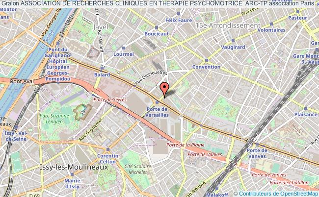 plan association Association De Recherches Cliniques En Therapie Psychomotrice  Arc-tp Paris