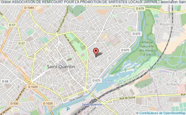 plan association Association De Remicourt Pour La Promotion De Sartistes Locaux (arparl)