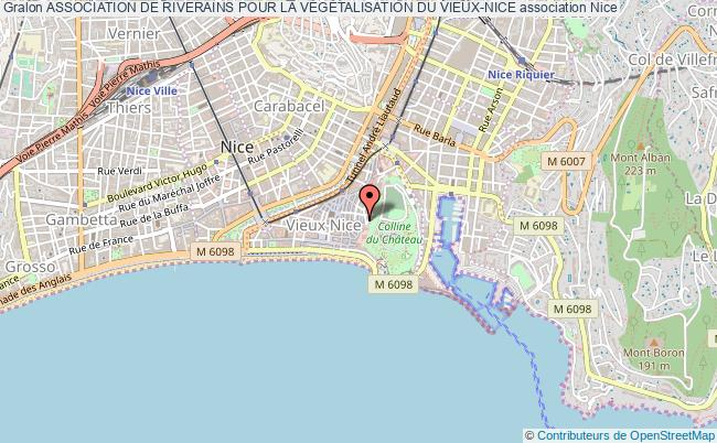 plan association Association De Riverains Pour La VÉgÉtalisation Du Vieux-nice