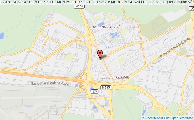 plan association Association De Sante Mentale Du Secteur 92g16 Meudon-chaville (clairiere)