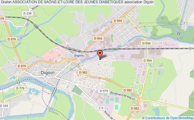 plan association Association De SaÔne-et-loire Des Jeunes DiabÉtiques Digoin