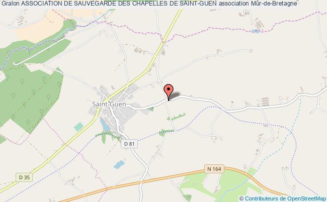 plan association Association De Sauvegarde Des Chapelles De Saint-guen Guerlédan