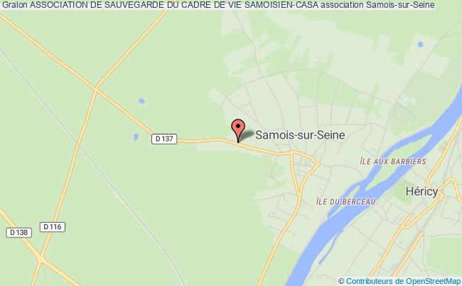 plan association Association De Sauvegarde Du Cadre De Vie Samoisien (ascavs) Samois-sur-Seine