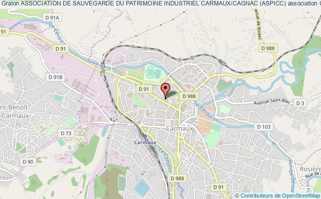plan association Association De Sauvegarde Du Patrimoine Industriel Carmaux/cagnac (aspicc)